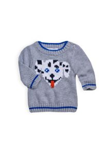 Baby boys jacquard knit jumper