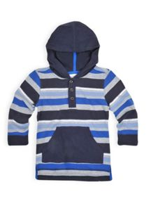 Boys stripe hooded grandpa tee
