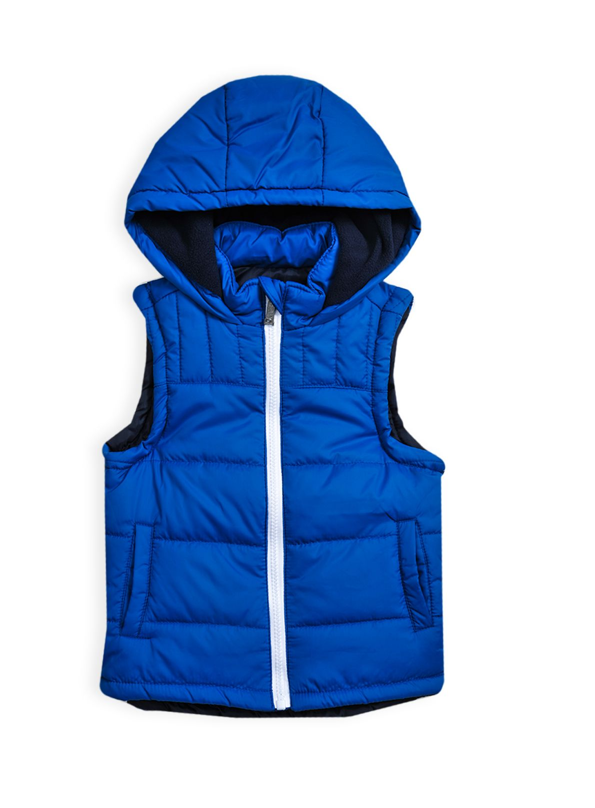 Boys hooded puffer vest