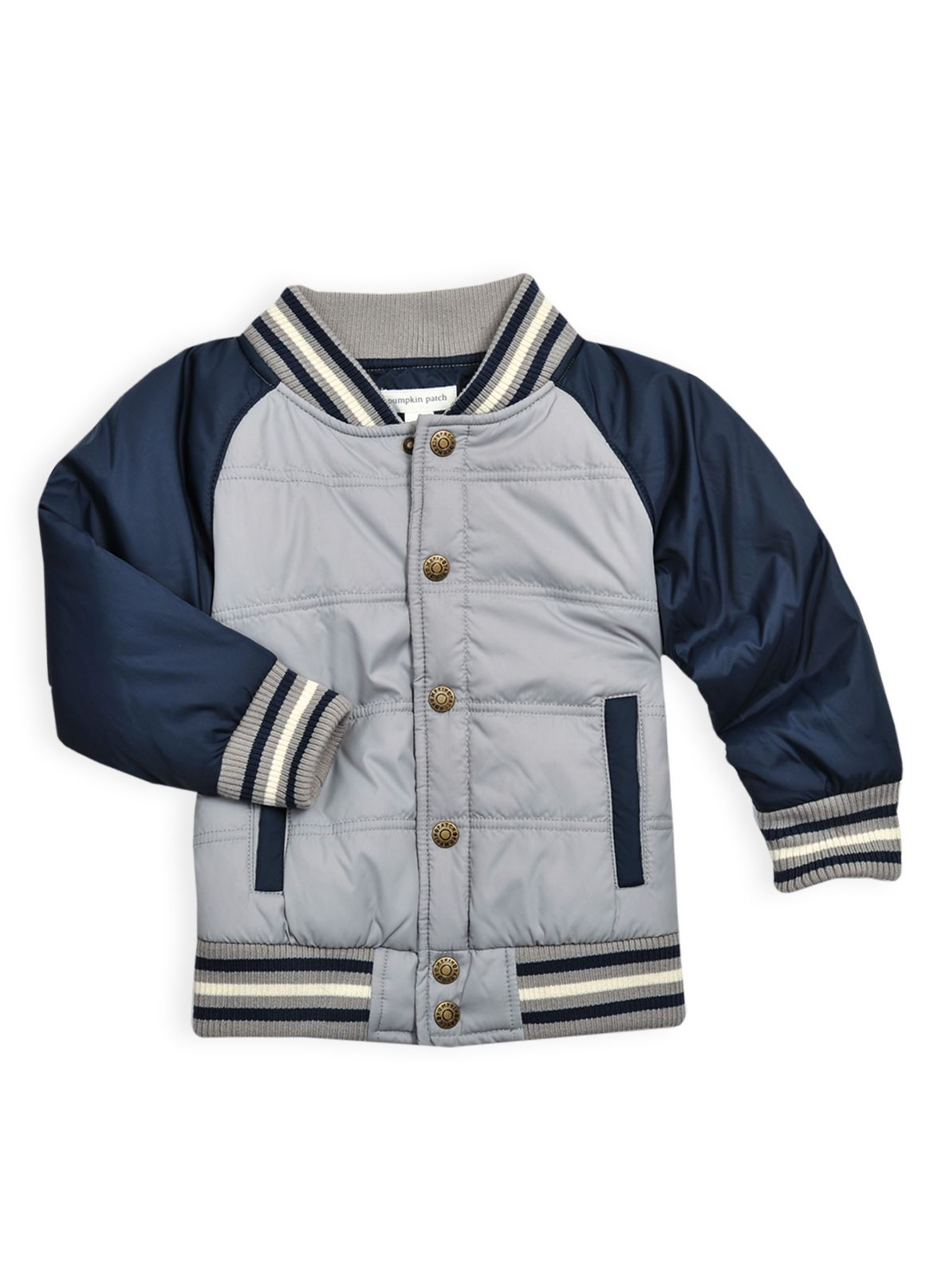 Boys quilted baseball jacket