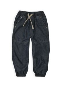 Boys denim jeans with gathered hem