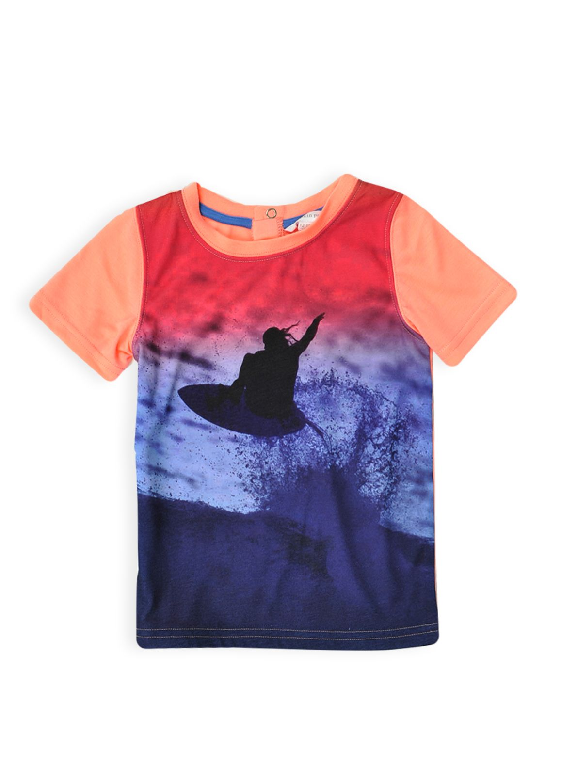 Boys colour block surfer t-shirt