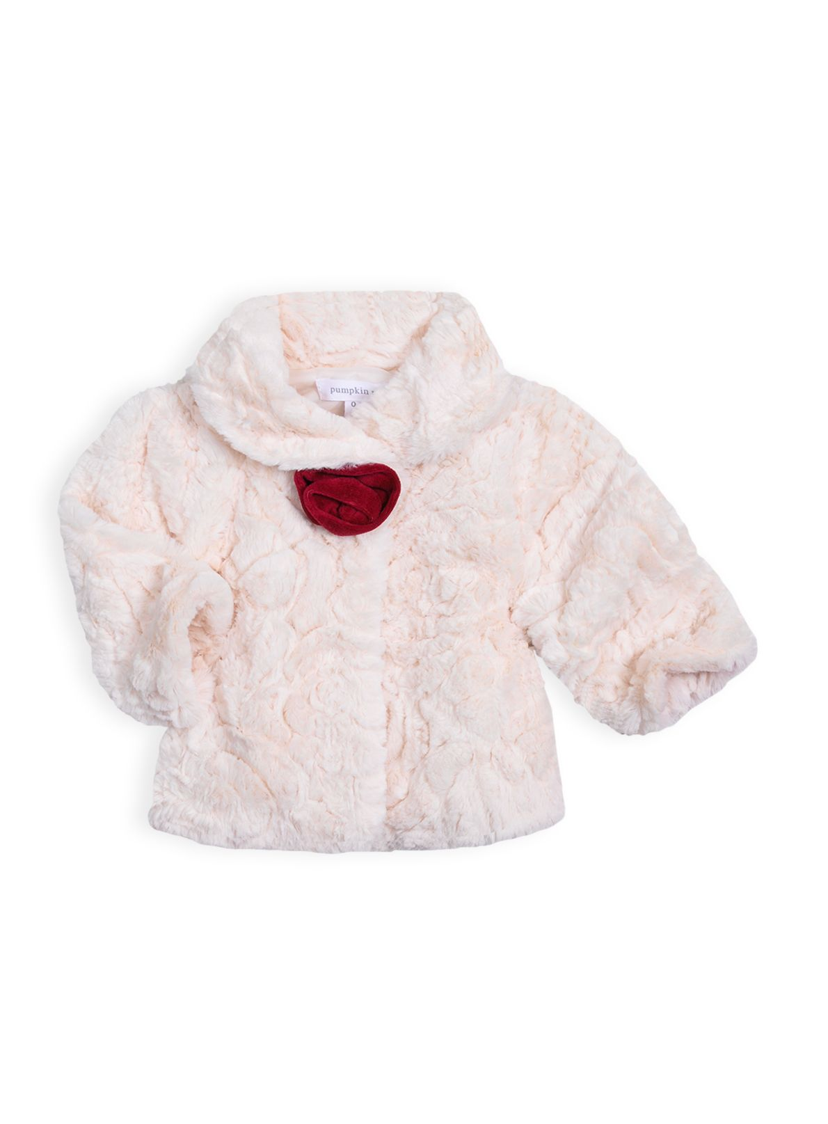 Baby girls ribbed fur jacket