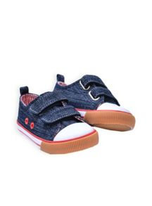 Boys denim velcro sneaker