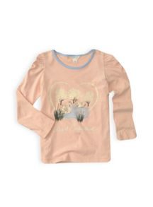 Girls swan print top