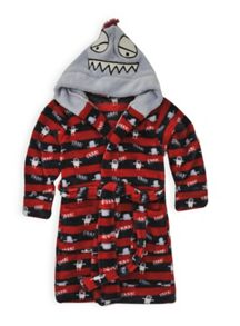 Boys monster hooded dressing gown