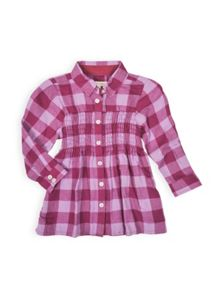 Girls shirred long sleeved shirt