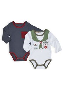 Girls 2pk long sleeve bodysuits