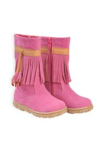 Girls forest fringe boot