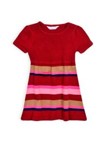Girls stripe knit tunic