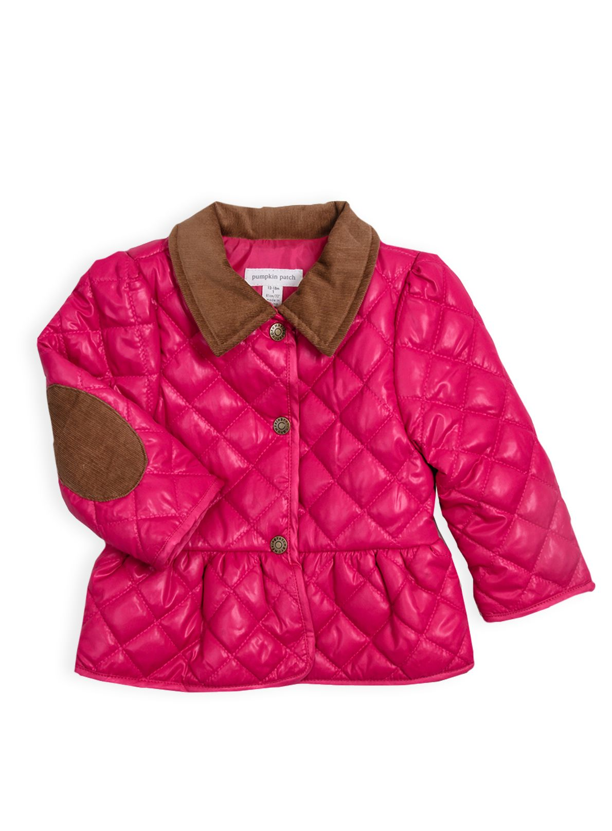 Girls quilted riding jacket