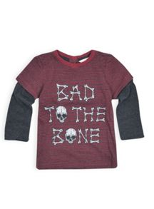Boys stripe double long sleeve tee