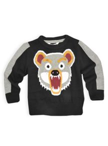 Boys grizzly bear knit jumper