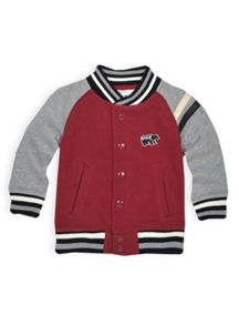 Boys raglan fleece baseball jacket