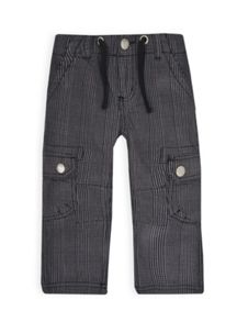 Boys yarn dyed check cargo pants