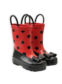 Girls little lady spot gumboot