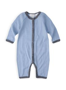 Boys baby merino long sleeve all in one