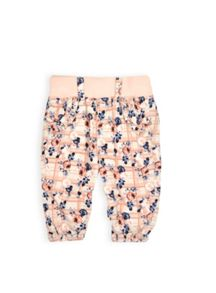 Girls rose print babycord pants