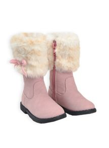 Baby girls fur cuff fashion boot