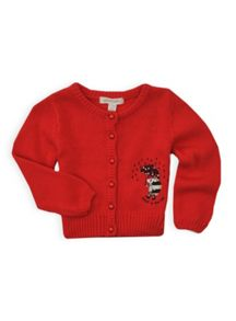 Girls hedgehog applique cardigan