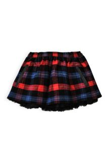 Girls check tulle skirt
