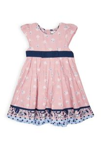Girls border print dress