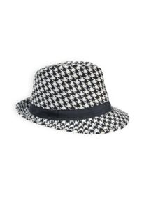 Girls houndstooth fedora