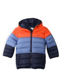 Boys spliced panel puffer jacket
