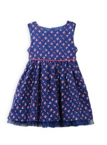 Girls cherry cord dress