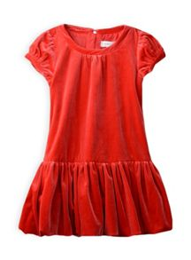 Girls drop waist velvet dress