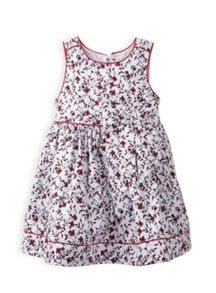 Girls piped printed dress