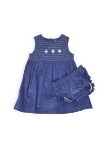 Girls smocked bodice dress with knickers