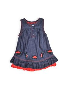 Girls ladybird pinnie