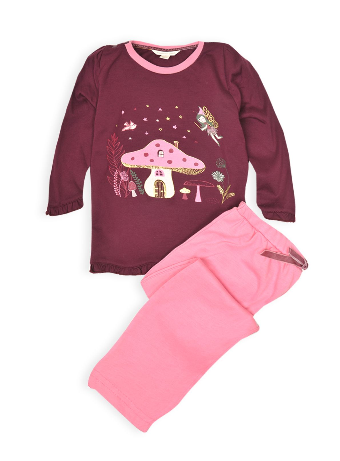 Girls fairyland knit pj set