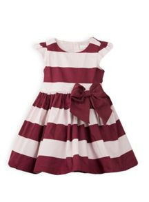 Girls wide stripe dress