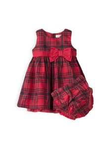 Girls tarten dress with knickers