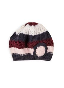 Girls multi knit beret
