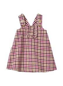 Girls w/s pincord ruffle pinnie
