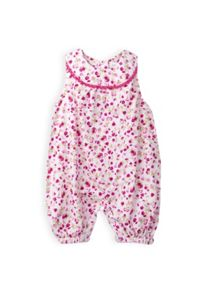 Girls pincord floral dungaree