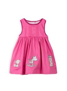 Girls applique hem dress
