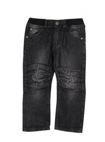 Boys rib waist knee panel denim jean