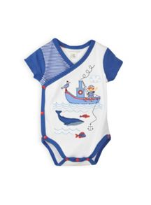 Baby boys crossover sailor bodysuit