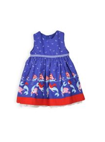 Baby girls border print dress