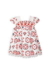 Baby girls shirred bodice dress