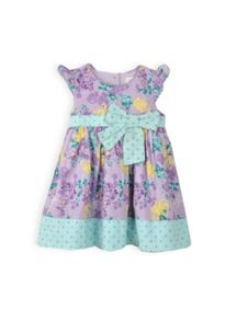 Baby girls bow floral dress