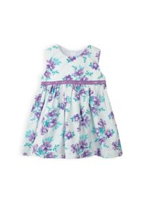 Baby girls lace trim dress