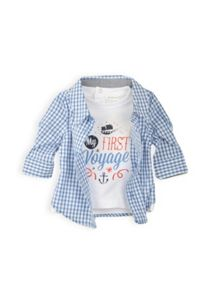 Baby boys long sleeve mock tee shirt