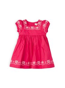 Baby girls square neck embroidered dress
