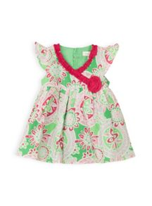 Baby girls crossover dress w knicker