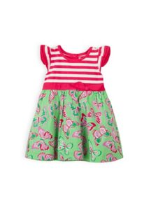 Baby girls stripe knit bodice dress